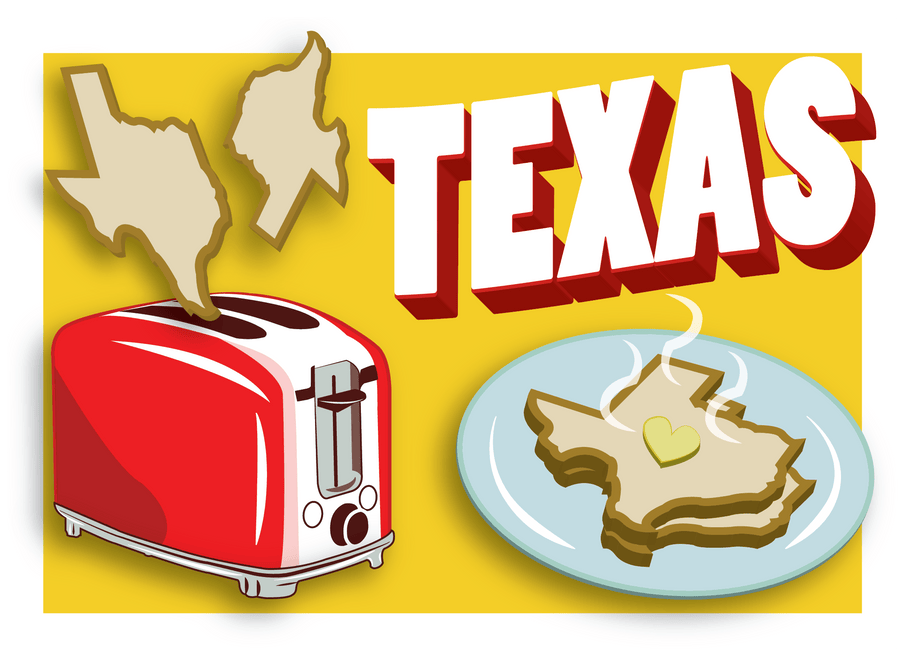 Texas Toast Post Card