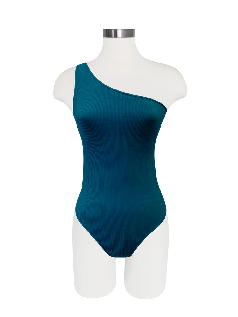 Seamless One Shoulder Bodysuit - Spruce
