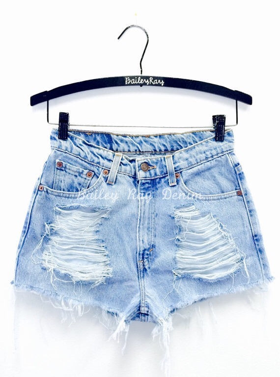Vintage, High Waisted Levi Shorts - Distressed