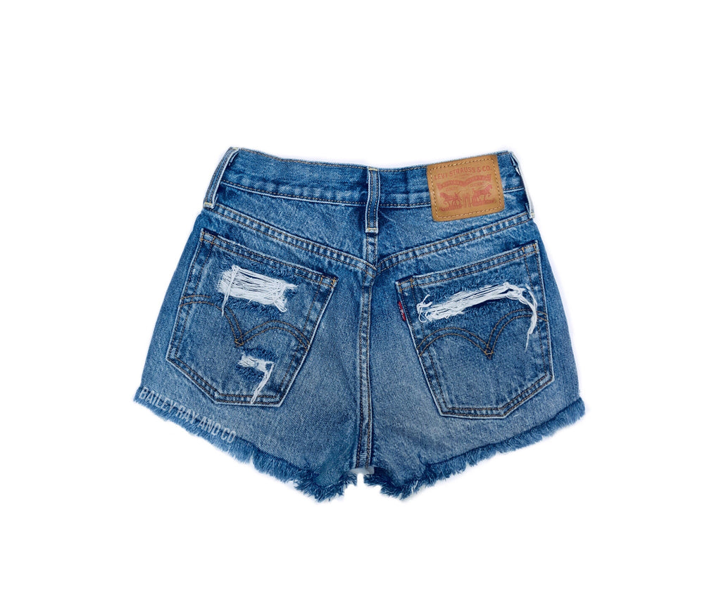 Vintage, High Waisted Levi Shorts - Destroyed