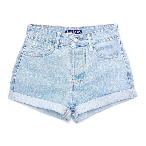 High Waisted Denim Shorts  - The Becca