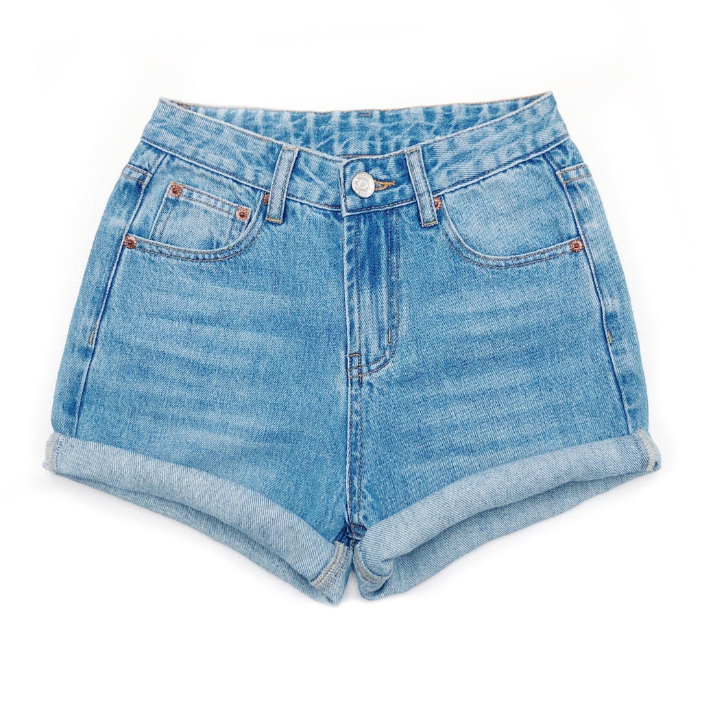 High Waisted Denim Shorts  - The Callie