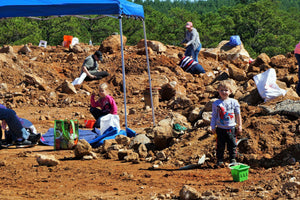 Family Digging For Crystals At Ron Coleman Mining