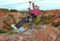 Zip-Lining Over An Active Quartz Crystal Mine