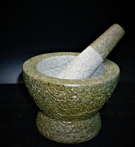 Rock Mortar & Pestle Spice Grinding Display