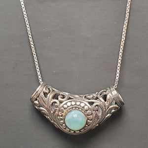 Sterling Silver Larimar Necklace