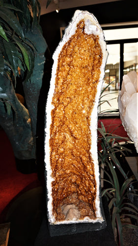 Statement Mineral Decor Citrine Cathedral Geode Luxury Interior Design Element
