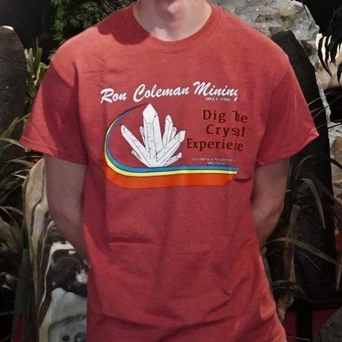 Dig The Crystal Experience Unisex T Shirt Rainbow Heather Cardinal