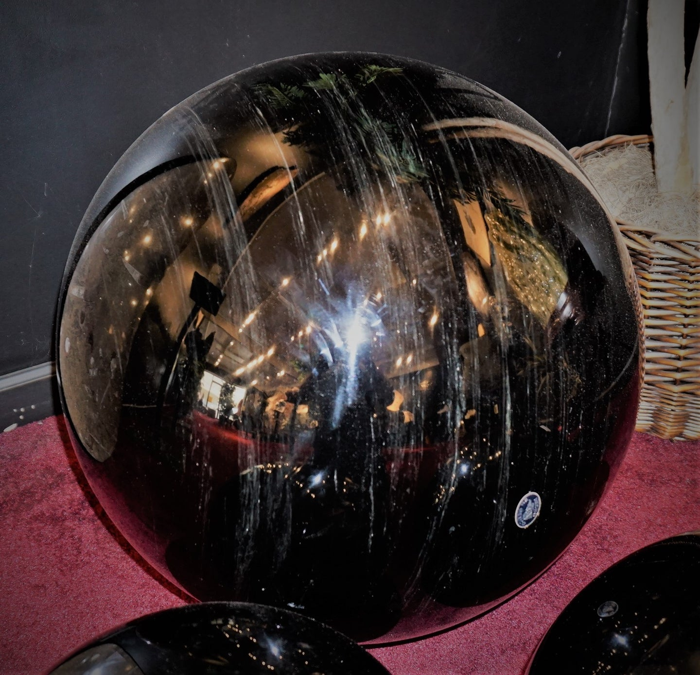 Large Obsidian Sphere #72