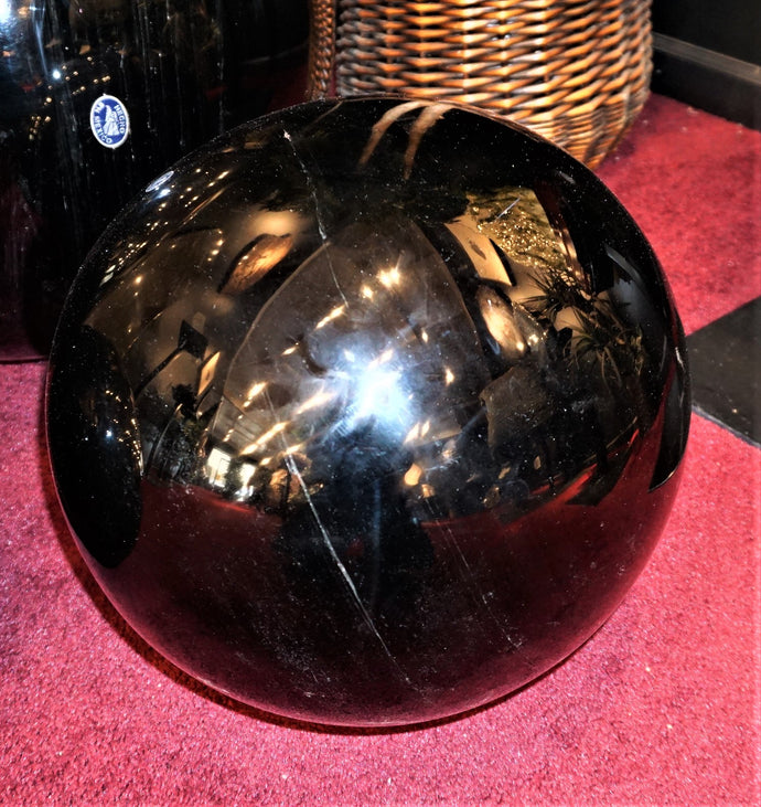 15 Inch Obsidian Sphere Home Decor