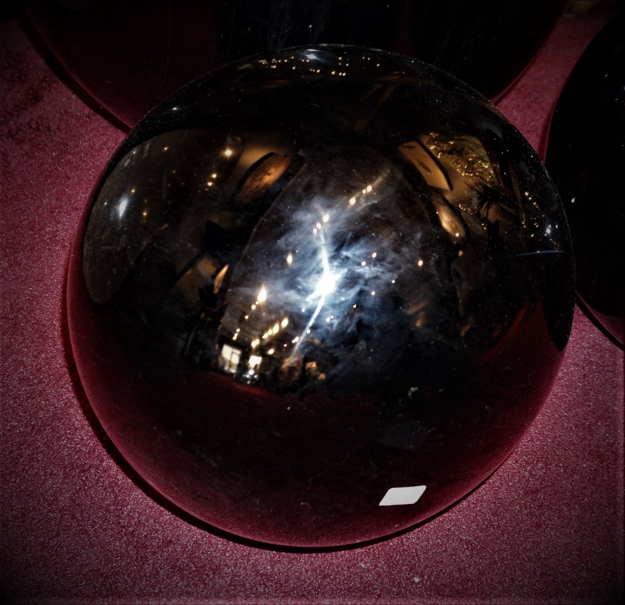 14 Inch Obsidian Sphere Home Decor