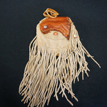 Tan Leather Fringe Pouch