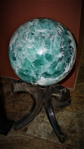 Large Green Fluorite Sphere Beautiful Green Mineral Ball Home Decor Accent