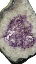 Amethyst Slice Showing Purple and White Quartz Crystals