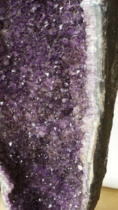 Tall Amethyst Geode Cluster Luxury Interior Design Accessory