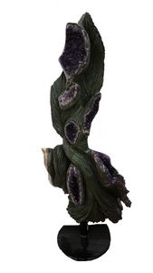 Curated Home Decor Amethyst Sculpture On Black Stand