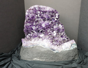 Gorgeous Amethyst Crystal Cluster Purple Home Accent Positive Energy Metaphysical Stone Polished Edge Nemo
