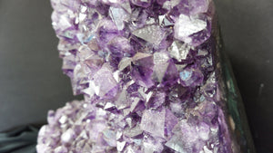 Mineral Home Decor Sparkling Amethyst Crystal Cluster Polished Edge Metaphysical Stone