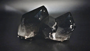 Very Large Irradiated Quartz Crystal Cluster Black Mineral Decor