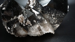 Close Up Of Crystal Formation On Irradiated Quartz Crystal