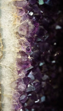 Close Up Of Polished Edge On Amethyst Geode