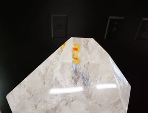 Unique Table Top Light Beautiful Quartz Crystal Point Interior Design Accessory