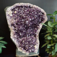 Close Up Of Druzy Crystals Within Amethyst Cave