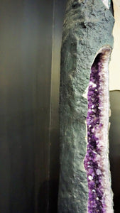Tall Amethyst Cathedral Tube High Contrast Statement Decor