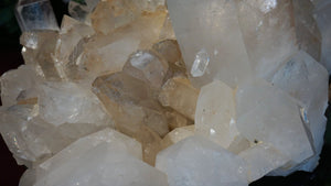 Uncommon Decor Mineral Accessory Large Arkansas Quartz Crystal Cluster With Healed Areas