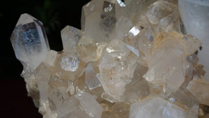 Luxury Interior Design Accessory Large Arkansas Quartz Crystal Cluster With Healed Areas