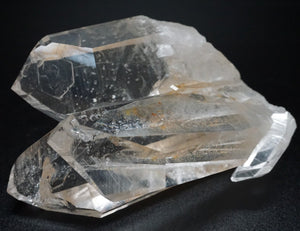 View Of Unique Crystal Cluster Laying On Side