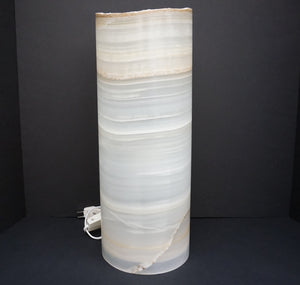 Ron Coleman Mining Gift Shop Item Mexican Onyx Cylinder Table Lamp