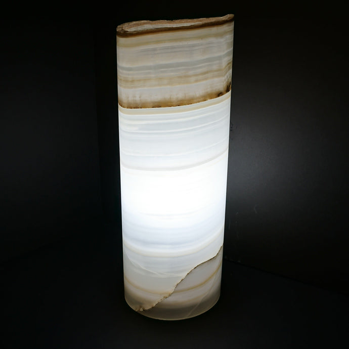 Onyx Cylinder Table Lamp