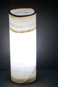 Mineral Home Decor Onyx Stone Cylinder Table Lamp Minimalist Lighting