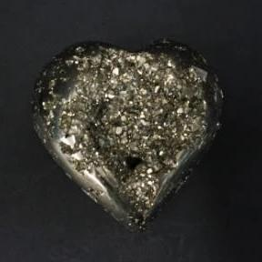 Close Up Of Pyrite Heart