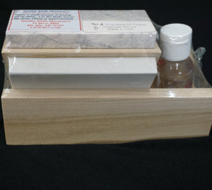 Novaculite Stone Arkansas Flint Sharpening Kit With Oil
