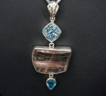 Multiple Stone Sterling Silver Fashion Pendant