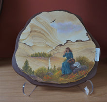 Hand Painted Early Settler On Sandstone Wall Art