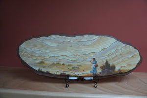 Sandstone Art Painting Wagon Train Female Settler Soaring Eagle