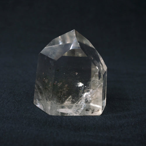 Cut And Polished Quartz Crystal With Chlorite