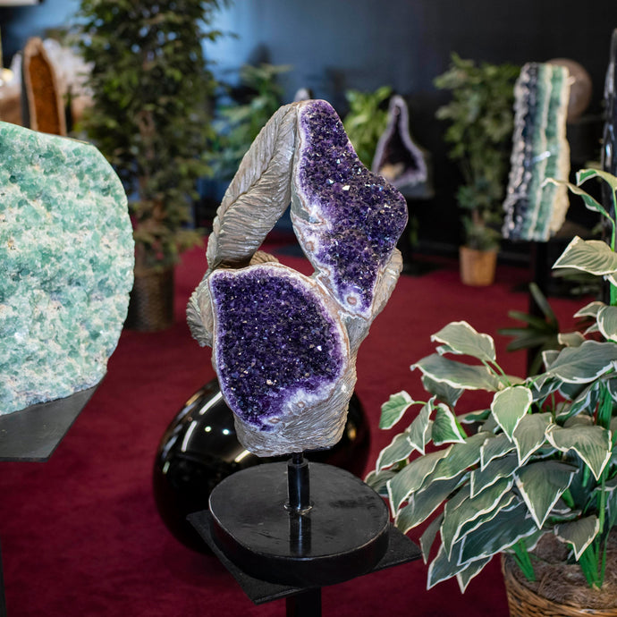 Hand Carved Amethyst Sculpture Luxury Home Decor