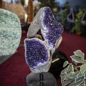 Amethyst Sculpture Floral Style