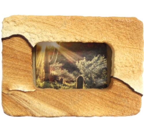 Sandstone Picture Frame Desktop Decor