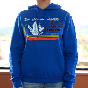 Blue Unisex Ron Coleman Mining Unisex Hoodie WIth Crystal Graphic