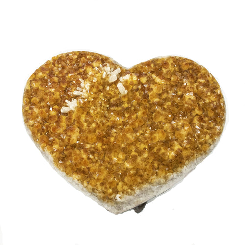 Citrine Druzy Heart Shape