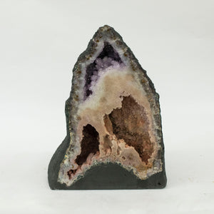 Luxury Interior Decor Amethyst Druzy Crystal Cathedral Pair