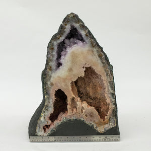 Amethyst Cathedral With Ruler Showing Width