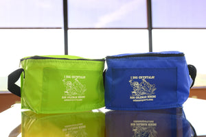 Insulated Soft Lunch Box Branded Ron Coleman Mining Lime Green Bright Blue