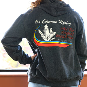 Dark Gray Full-Zipper Hoodie Adult Unisex Sizing Ron Coleman Mining