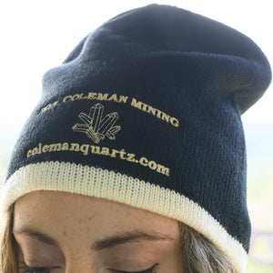Warm Beanie Hat Black With White Dig The Crystal Experience
